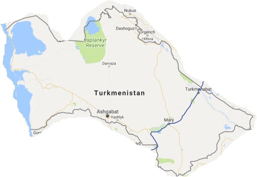 Turkmenistan map2
